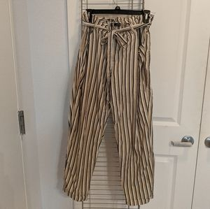 Zara Trafaluc Striped lightweight trousers